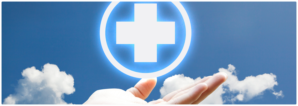 Image of a hand holding a medical plus sign