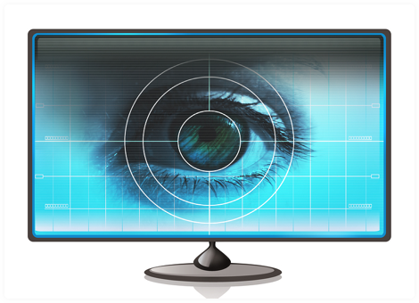 Image of a monitor showing an eye