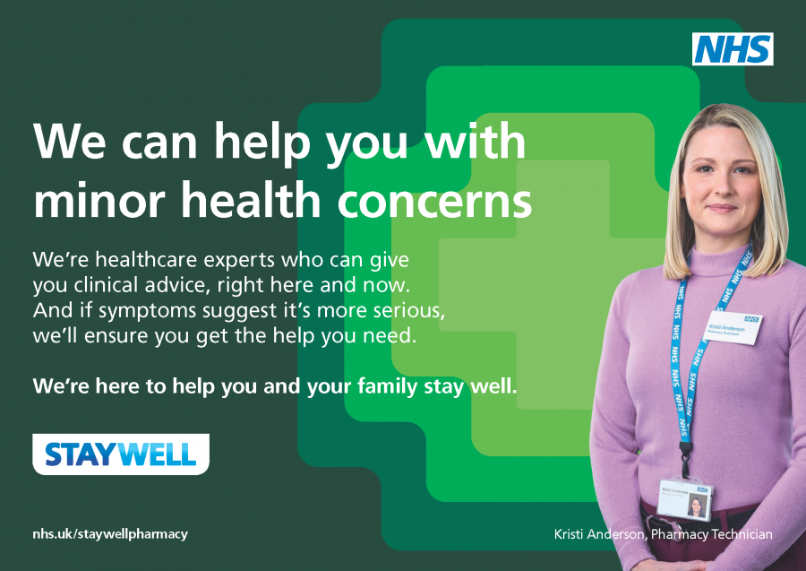 #staywellthiswinter NHS England campaign for minor health concerns and community pharmacies